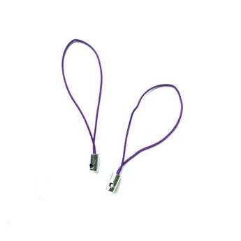 Подвеска для мобильного телефона, цвет фиолетовый, 2 штуки