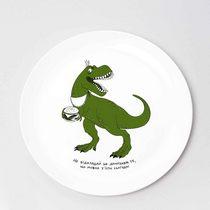"""Тарелка """"Канапкозавр"""", d 25 см"""