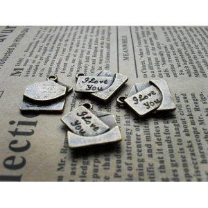 Бронзовая металлическая подвеска Сердце Love