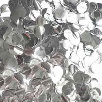 Конфетти круглое из фольги, цвет серебряный, 20 г