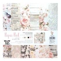 """Набор односторонней дизайнерской бумаги """"Pink flowers"""" 25,5х25,5 см, 24 листа+2 листа с высечками"""