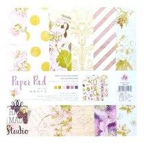 """Набор односторонней дизайнерской бумаги """"Flowers"""" 25,5х25,5 см, 24 листа+2 листа с высечками"""