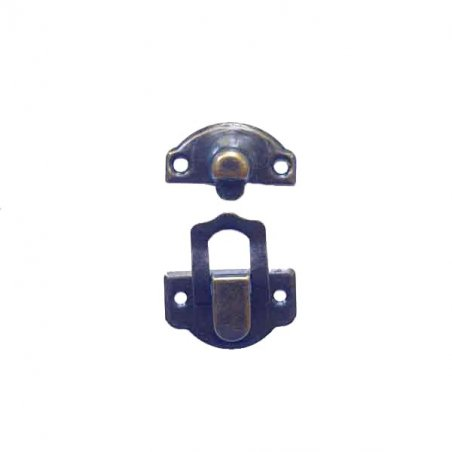 Замочек металлический А-020, цвет бронза, 2,5х3 см (1 штука)