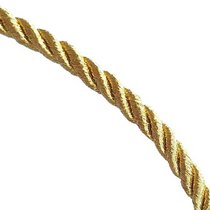 Шнур витой (крученый) 5 мм, цвет золотой, 1м