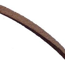 Замшевый шнур, цвет  светло-коричневый, толщина 3  мм, 1м