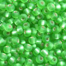 Бисер чешский PRECIOSA №252-10/0-57100- матовый с блестящей серединкой, зеленый, 10 г