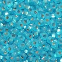 Бисер чешский PRECIOSA №196-10/0-67010- матовый с блестящей серединкой, голубой, 10 г