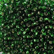 Бисер чешский PRECIOSA №478-10/0-57120- блестящий с квадратной серединкой, зеленый, 10 г