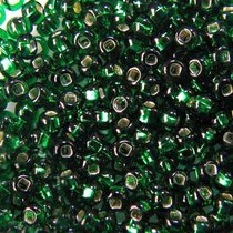 Бисер чешский PRECIOSA №483-10/0-57430- блестящий с квадратной серединкой, насыщенно-зеленый, 10 г