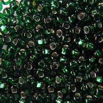 Бисер чешский PRECIOSA №482-10/0-57150- блестящий с квадратной серединкой, темно-зеленый, 10 г