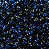 Бисер чешский PRECIOSA №489-10/0-67100- блестящий с квадратной серединкой, темно-синий, 10 г