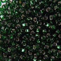 Бисер чешский PRECIOSA №484-10/0-57290- блестящий с квадратной серединкой, зеленый болотный, 10 г