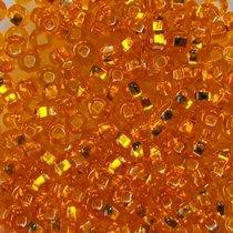 Бисер чешский PRECIOSA №493-10/0-97000- блестящий с квадратной серединкой, апельсиновый, 10 г