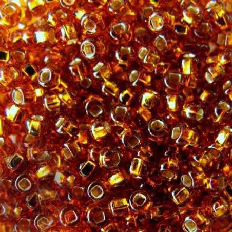 Бисер чешский PRECIOSA №465-10/0-17090- блестящий с квадратной серединкой, коричнево-золотой, 10 г