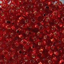 Бисер чешский PRECIOSA №496-10/0-97070- блестящий с квадратной серединкой, красный, 10 г