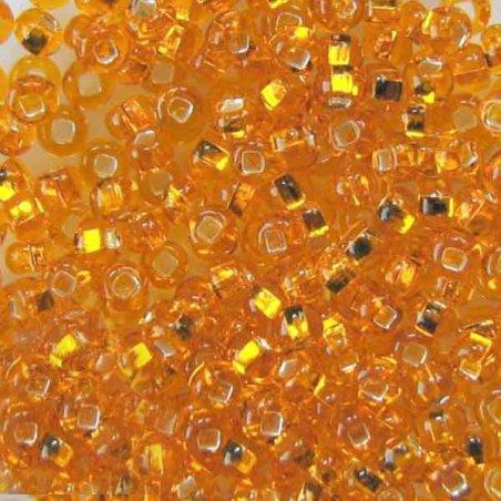 Бисер чешский PRECIOSA №492-10/0-87060- блестящий с квадратной серединкой, желтый темный, 10 г