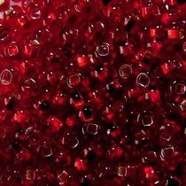 Бисер чешский PRECIOSA №497-10/0-97090- блестящий с квадратной серединкой, темно-красный, 10 г