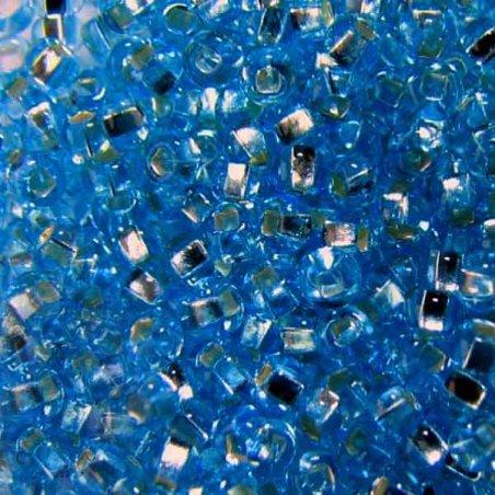 Бисер чешский PRECIOSA №487-10/0-67030- блестящий с квадратной серединкой, голубой, 10 г