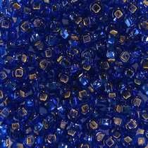 Бисер чешский PRECIOSA №473-10/0-37080- блестящий с квадратной серединкой, кобальтовый темный, 10 г