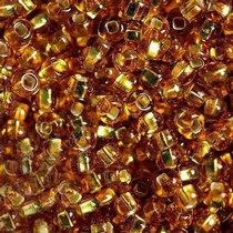 Бисер чешский PRECIOSA №464-10/0-17070- блестящий с квадратной серединкой, золотой, 10 г