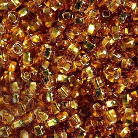 Бисер чешский PRECIOSA №464-10/0-17070- блестящий с квадратной серединкой, золотой, 10 г (+/- 10%)