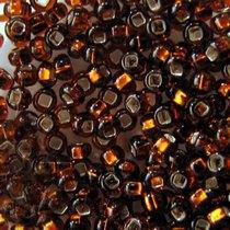 Бисер чешский PRECIOSA №466-10/0-17110- блестящий с квадратной серединкой, коричневый, 10 г