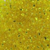 Бисер чешский PRECIOSA №491-10/0-87010- блестящий с квадратной серединкой, лимонно-желтый, 10 г