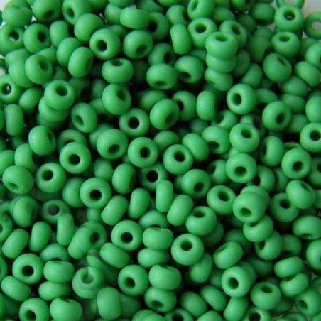 Бисер чешский PRECIOSA №828-10/0-53250- матовый, зеленый, 10 г