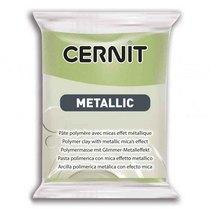 Полимерная глина CERNIT METALLIC, №051- зеленое золото, 56 г
