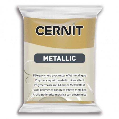 Полимерная глина CERNIT METALLIC, №053- богатое золото, 56 г