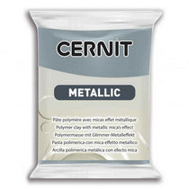 Полимерная глина CERNIT METALLIC, №167- сталь, 56 г