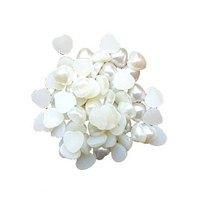 Пластиковые полубусины-сердечки, кремовый перламутр, 0,8 см, 10 г