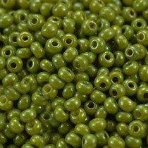 Бисер чешский PRECIOSA №1016-10/0-83113- перламутровый люкс, желто-оливковый, 10 г