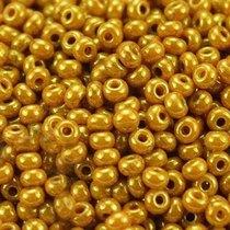 Бисер чешский PRECIOSA №1017-10/0-83119- перламутровый люкс, горчично-золотистый, 10 г