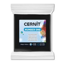 Полимерная глина CERNIT NUMBER ONE, № 100- черный, 250г