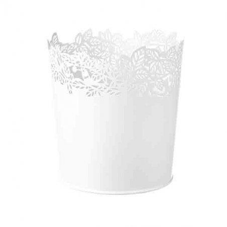 Кашпо для цветов SAMVERKA, 14 см, цвет - белый