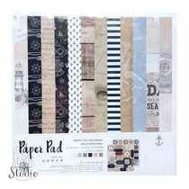 """Набор односторонней дизайнерской бумаги """"TRAVEL"""" 25,5х25,5 см, 24 листа+2 листа с высечками"""