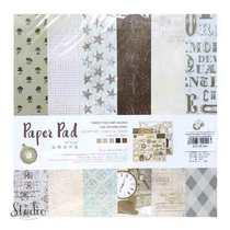 """Набор односторонней дизайнерской бумаги """"Moments"""" 25,5х25,5 см, 24 листа+2 листа с высечками"""
