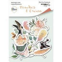 "Набор высечек для скрапбукинга ""Peaches and Cream"", 69 штук"