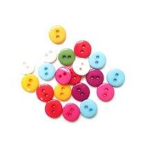 Пуговицы для скрапбукинга 0,9 см Микс №15, 10 штук