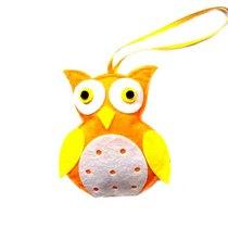 """Фетровая игрушка-подвеска """"Совушка"""" (цвет в ассортименте), 7,5х9 см"""