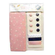 """Набор для творчества с тканью """"Craft sensations"""" звездочки на розовом"""