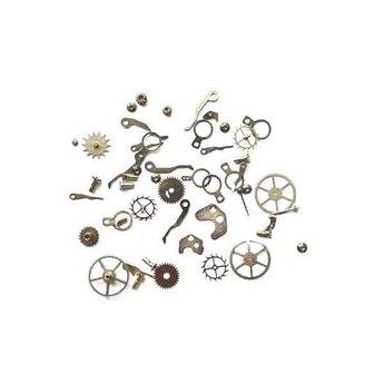 "Набор металличеких мини-шестеренок ""Стимпанк"", серебро, 50 штук"