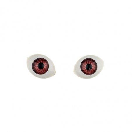 Глаза для кукол, цвет - карий, 8х12 мм