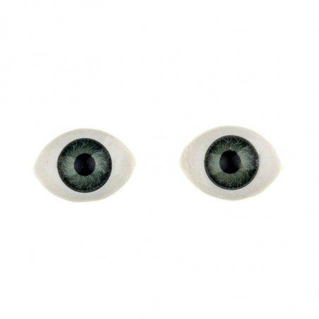 Глаза для кукол, цвет - зеленый, 8х12 мм