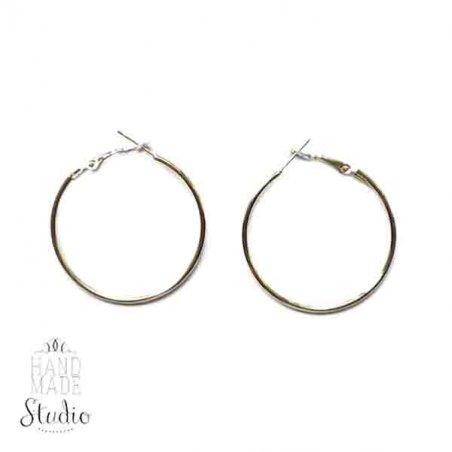 Серьги кольца, цвет - сталь, 5 см