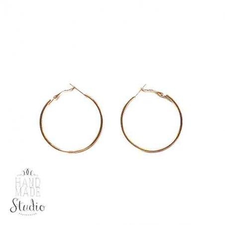 Серьги кольца, цвет - золото, 3 см