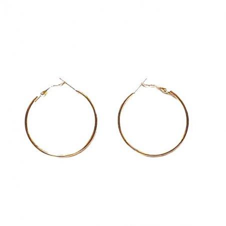 Серьги кольца, цвет - золото, 5 см