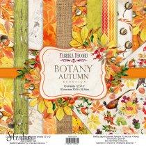 """Набор двусторонней бумаги 30,5х30,5 см """"BOTANY Autumn redesing"""", 200г/м2, 10шт"""