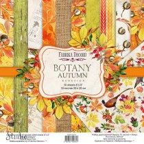 """Набор двусторонней бумаги 20х20 см """"BOTANY Autumn redesing"""", 200г/м2, 10шт"""